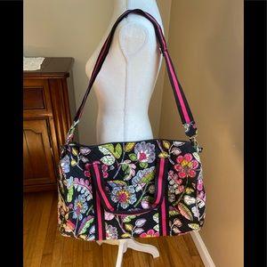 Vera Bradley Moon Blooms Round Duffel Bag NWT